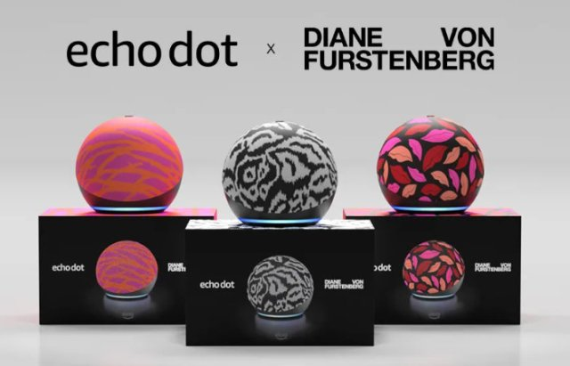 Amazon Echo Dot by designer Diane von Furstenberg DvF