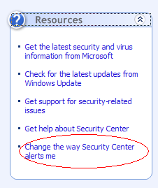 "How to Disable ""Your computer might be at risk"" Popup in Windows XP SP2"