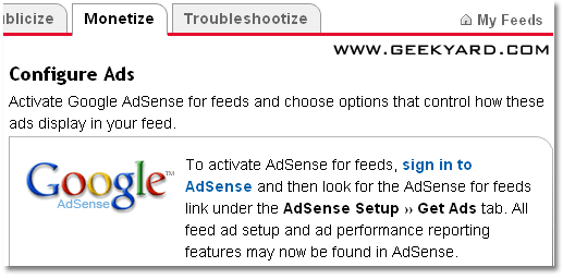 How do I add Google AdSense to my RSS feed?