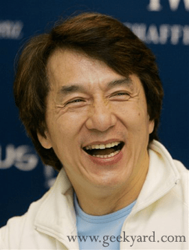 Jackie Chan Smiling
