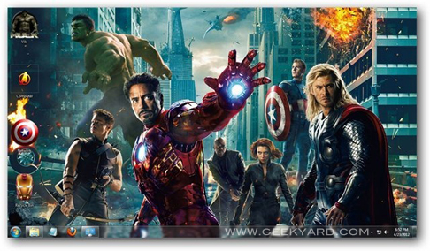 Download The Avengers Theme for Windows 7