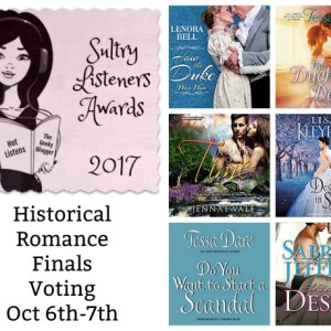 #SultryListeners Awards Finals Historical Romance Oct 6th-7th @mlsimmons #LoveAudiobooks
