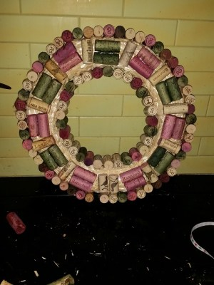 Cork Wreath In Process 3