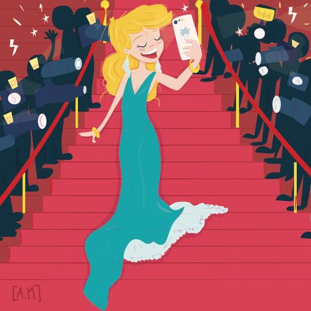 La montée des marches à Cannes, version selfie 2019 :D