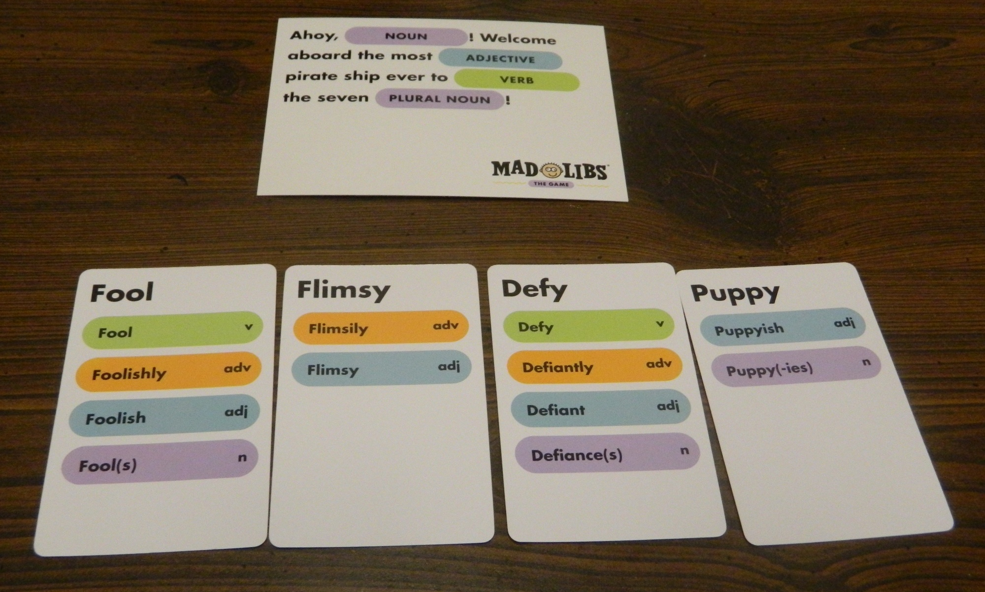 Mad Libs The Game Card Game Review And Rules