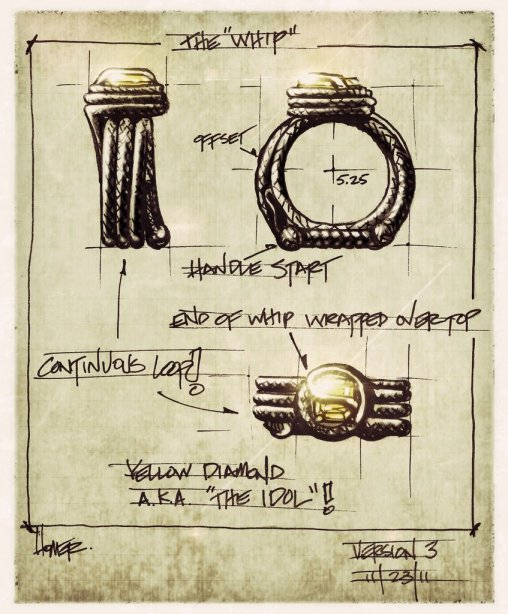 Sketch of Indiana Jones Ring