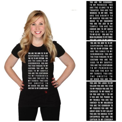 Her Universe Quote Tee