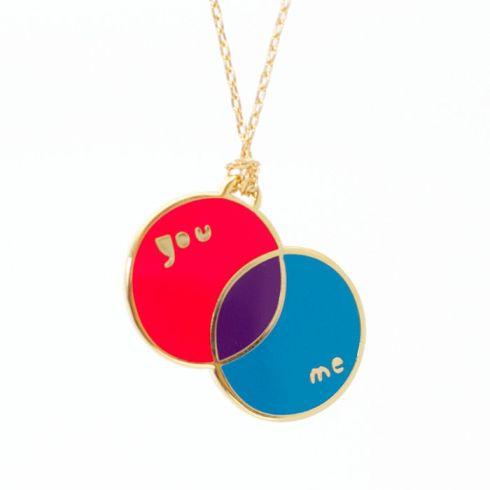 venn diagram necklace