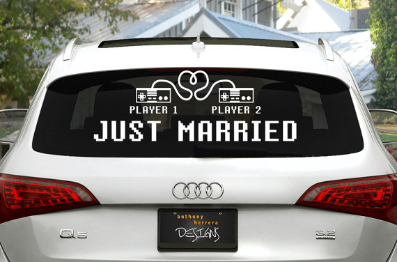 Just Married Car Cling