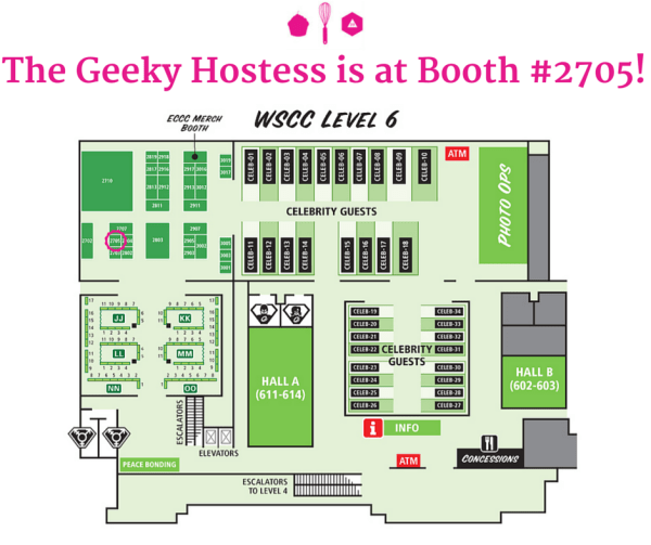 The Geeky Hostess is at Booth #2705!