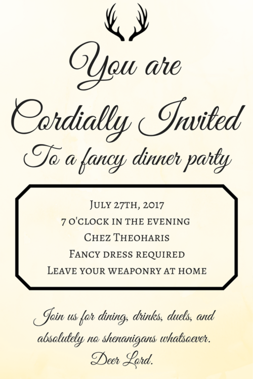 You Are Cordially Invited The Geeky Hostess