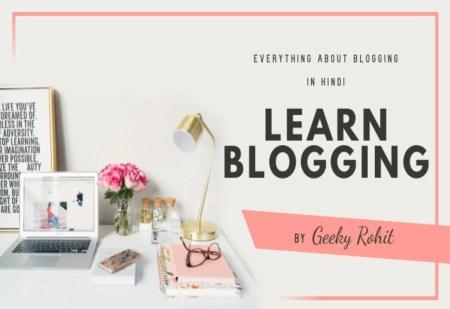 learn blogging in hindi 2021