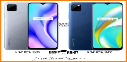 Realme C12 And Realme C15 Hindi