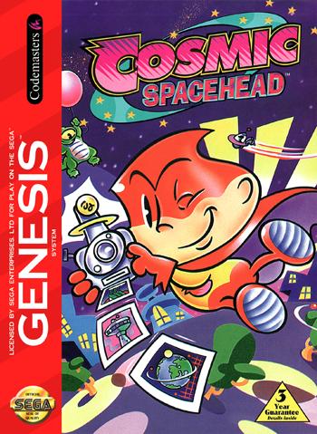 Cosmic Spacehead Retro Sega Genesis Videogame Review