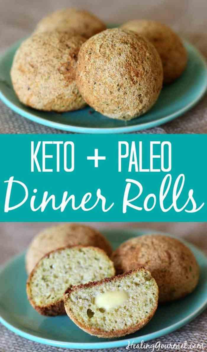 Keto + Paleo Dinner Roles by Healing Gourmet | Image source: HealingGourmet.com