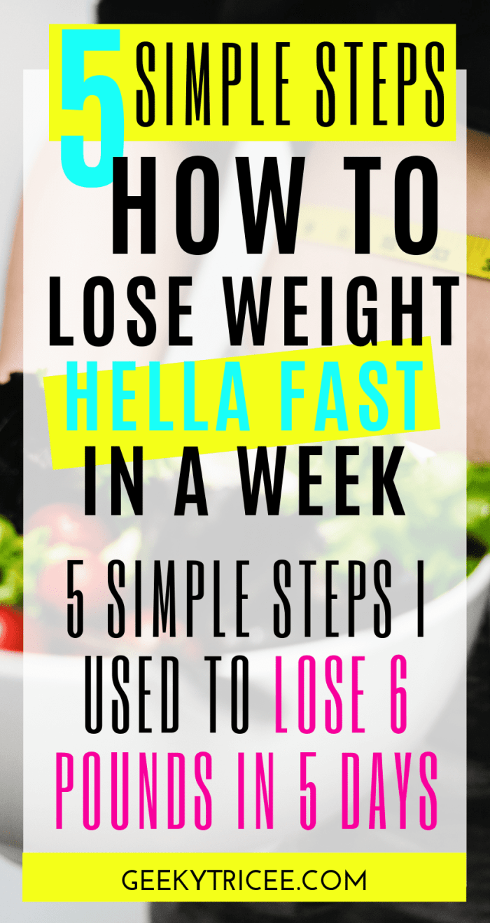 How to lose weight in a week: 5 simple steps I've used to lose 6 pounds in 5 days