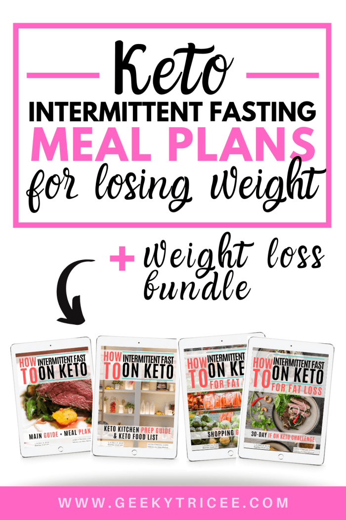 keto intermittent fasting meal plans