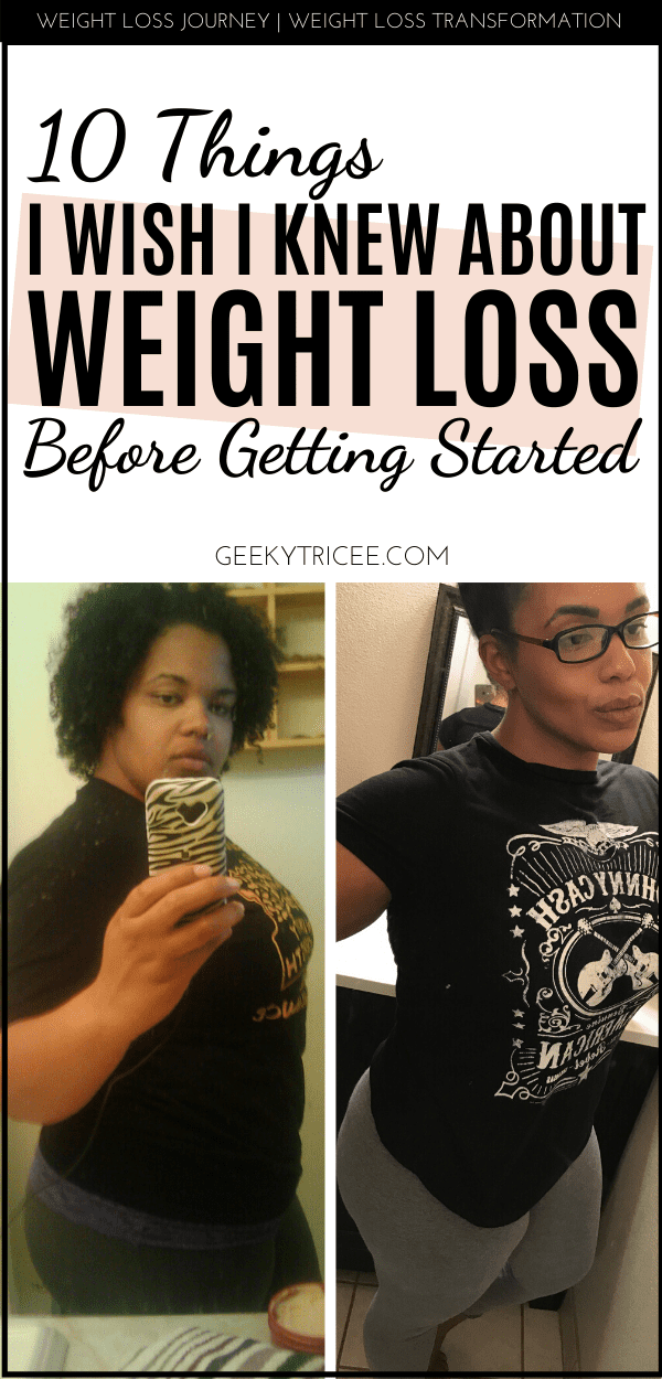 weight loss tips for beginners 10 things I wish I knew about weight loss - pin
