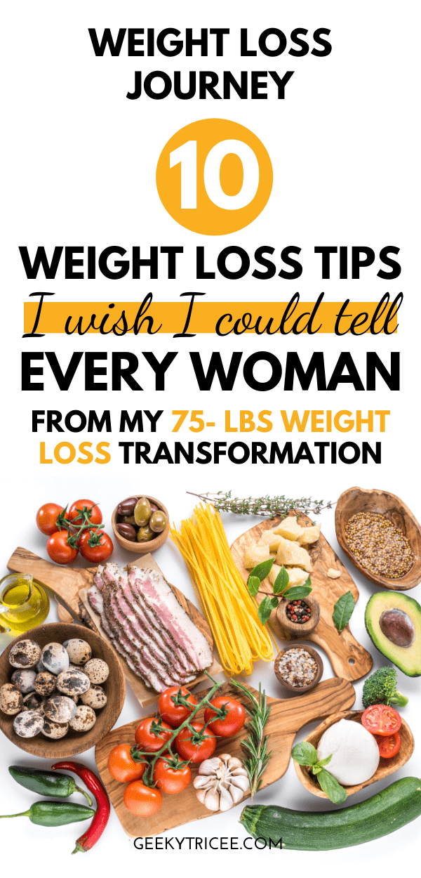 weight loss tips from my 75-lbs weight loss transformation journey