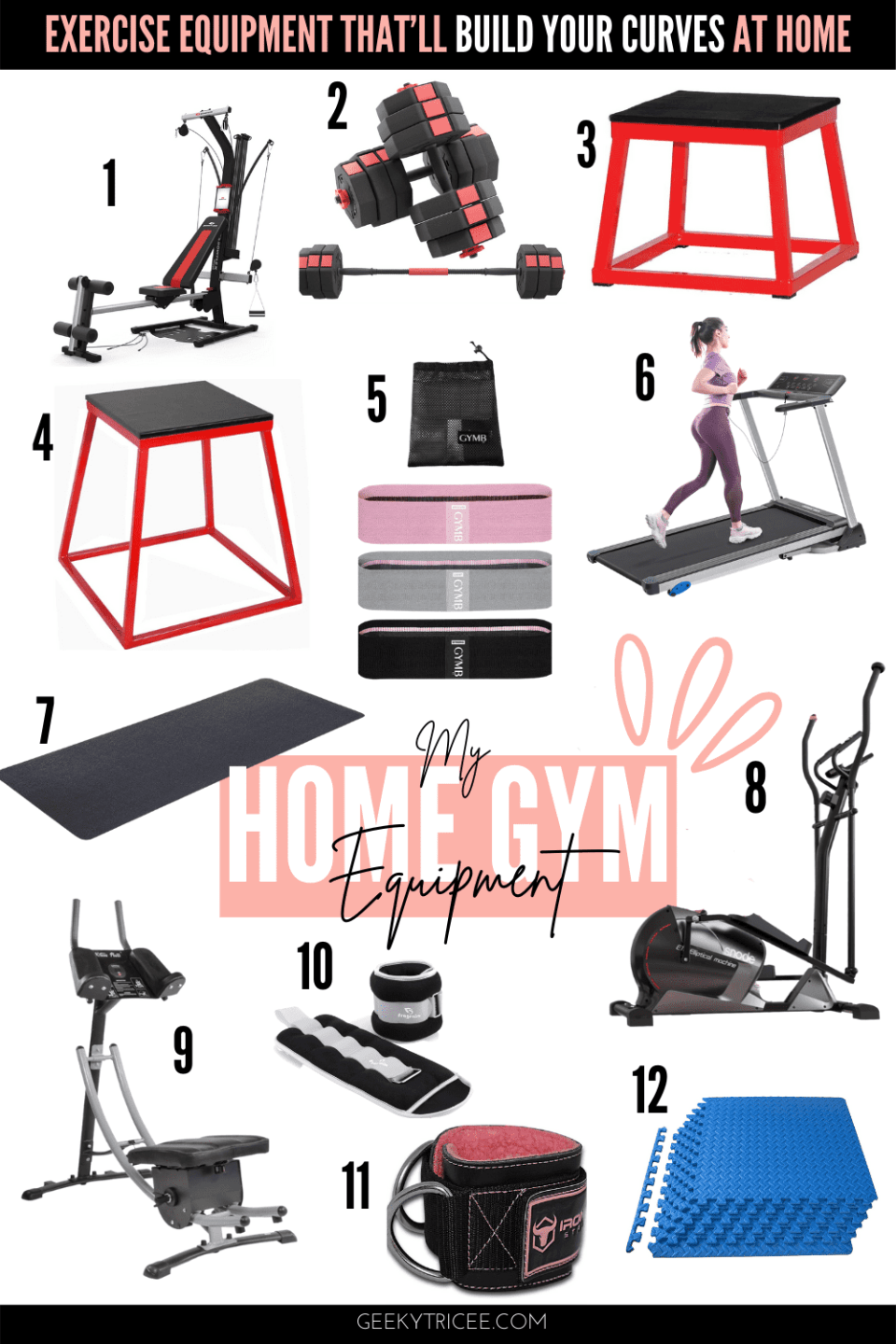 Home gym exercise equipment ideas for small spaces