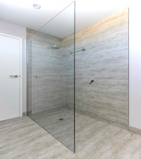 FRAMELESS SHOWER SCREENS 10mm | Geelong Splashbacks | ATMOS