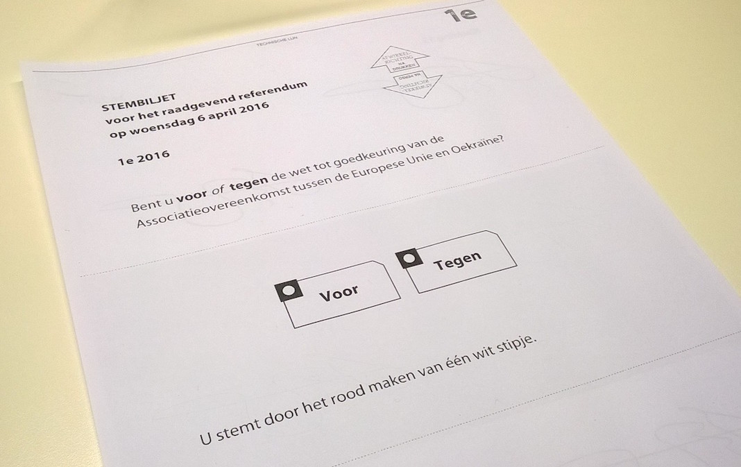 Stembiljet raadgevend referendum 2016