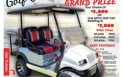 Golf Cart Giveaway Raffle Poster