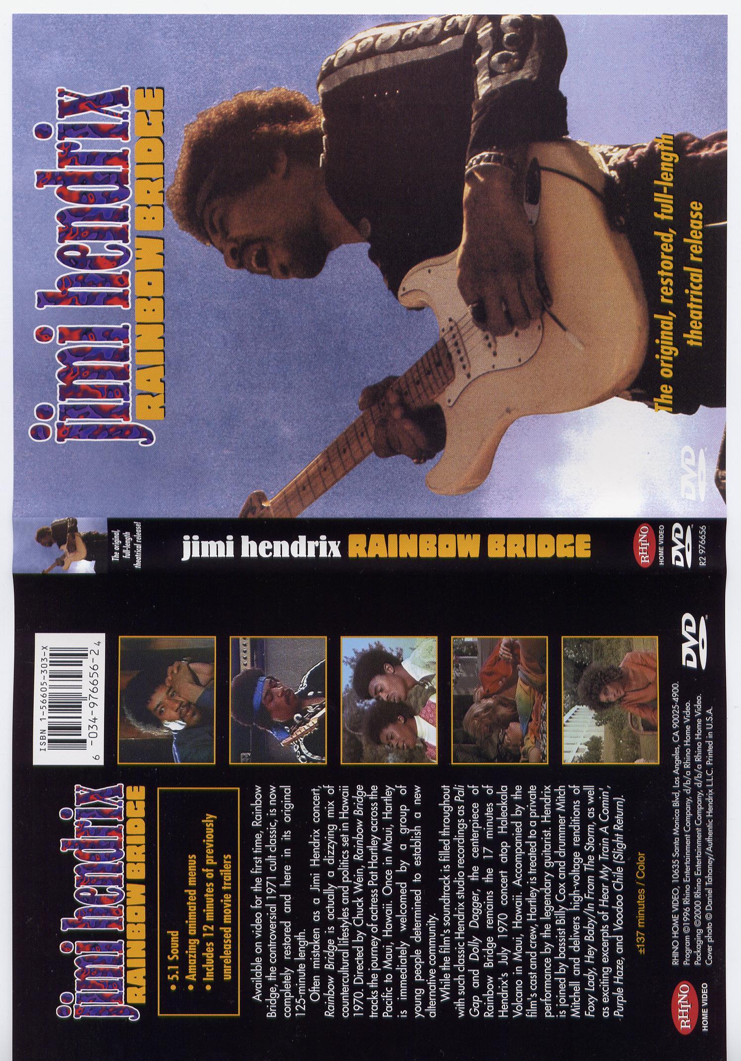 Jimi Hendrix  Rainbow Bridge DVD