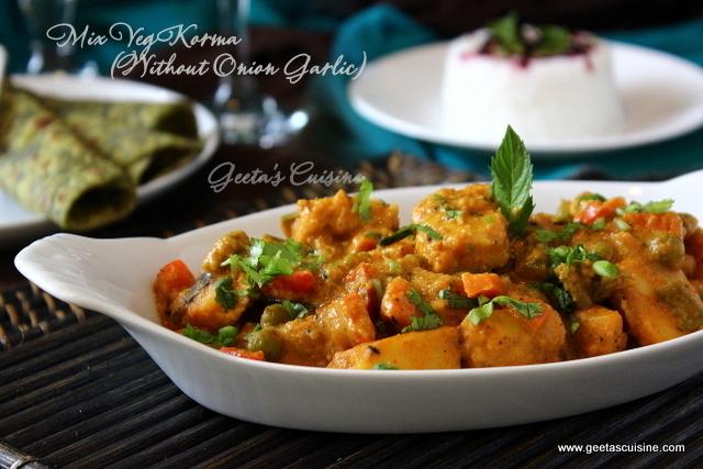 Mix veg korma without onion garlic geetas cuisine mix veg korma without onion garlic forumfinder Images