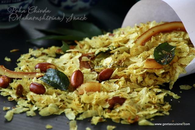 Various Cake Recipes In Marathi: Poha Chivda (Maharashtrian) Snack