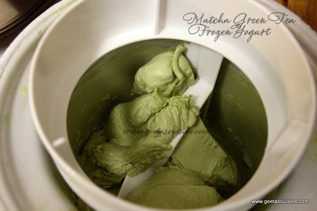 Matcha Green Tea Frozen Yogurt Geeta S Cuisine