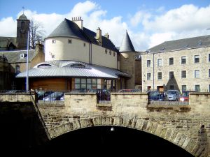 Hawick's newly redeveloped Backdamgate area.