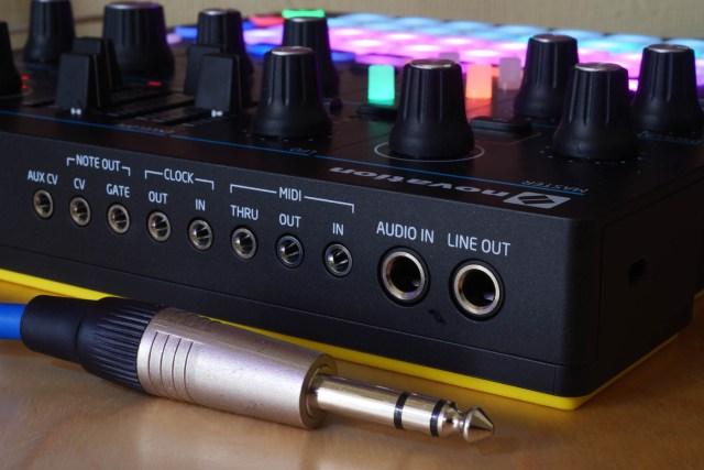 Novation Circuit Mono Station CV, MIDI and Audio ports