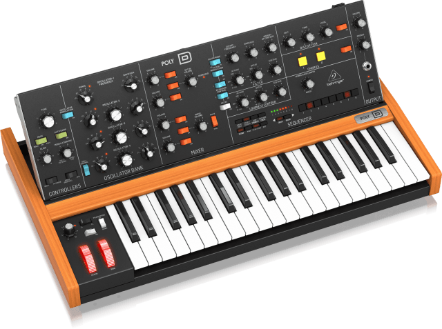 The Behringer Poly D 4-voice analogue synthsizer