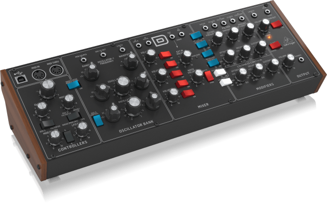 The Behringer Model D analogue synthesizer