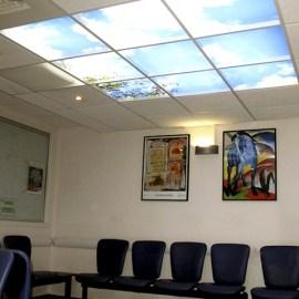 Un plafond lumineux pour le Centre Henri-Becquerel