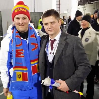 mit dem Sportminister von Moldawien