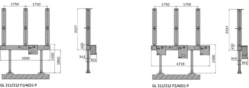 GL 310, GL 311 and GL 312 live tank circuit breaker from