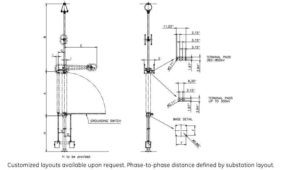 SPV Semi-Pantograph Disconnector up to 1,000 kV