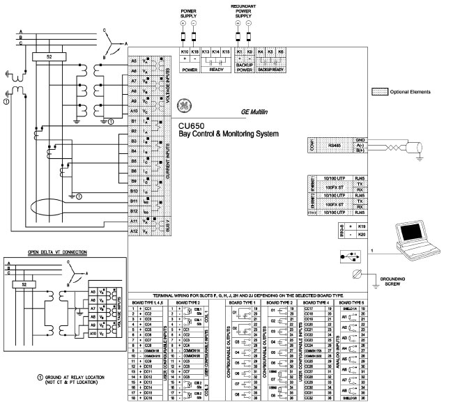 typical wiring diagram jet turbine c650 bay control monitoring system