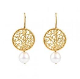 Pearl & Gold Studs Earrings