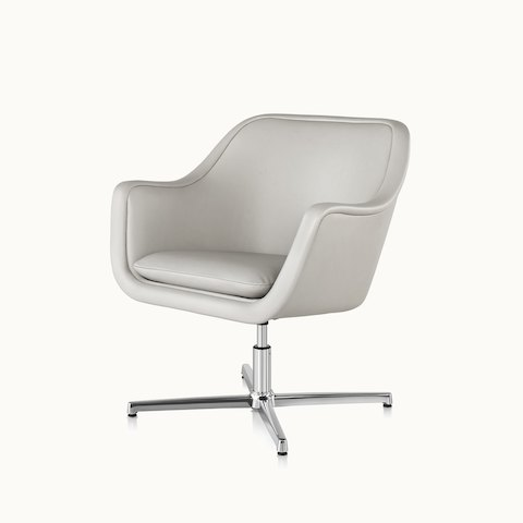 office club chairs folding chair hinges all seating geiger angled view of a bumper lounge with off white leather upholstery select to