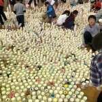 GM屋嘉部正人が岐阜県恵那市三郷小学校にて「紙コップのインスタレーション」を行いました