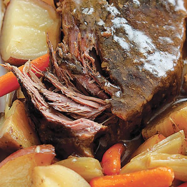 Tender Pot Roast With Gravy Dinner