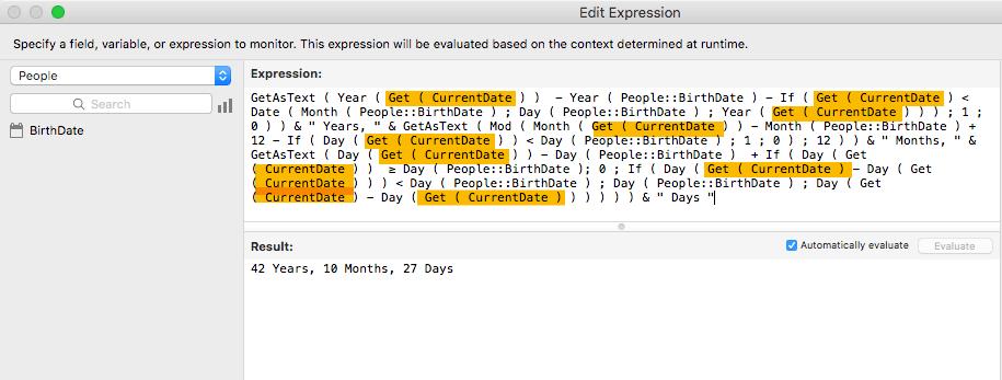 Get( 現在の日付 )関数がたくさん入った計算式