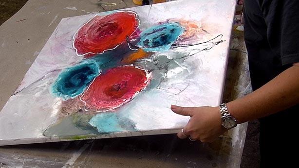 OnlineKunstschule fr abstrakte Malerei malen lernen