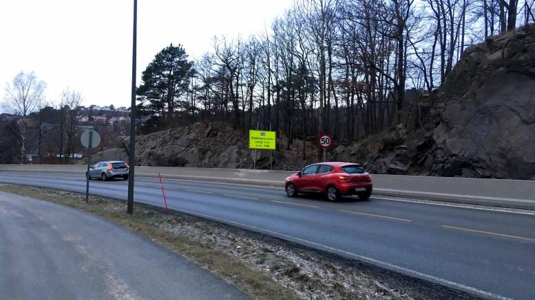 FØRE VAR: Statens vegvesen informerer tidlig og tydelig om at Blødekjærtunnelen blir stengt fra 16. februar. Foto: Esben Holm Eskelund