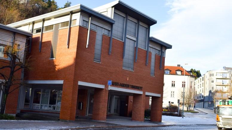 TINGRETTEN: Aust-Agder tingrett ligger i Blødekjær i Arendal. Foto: Esben Holm Eskelund
