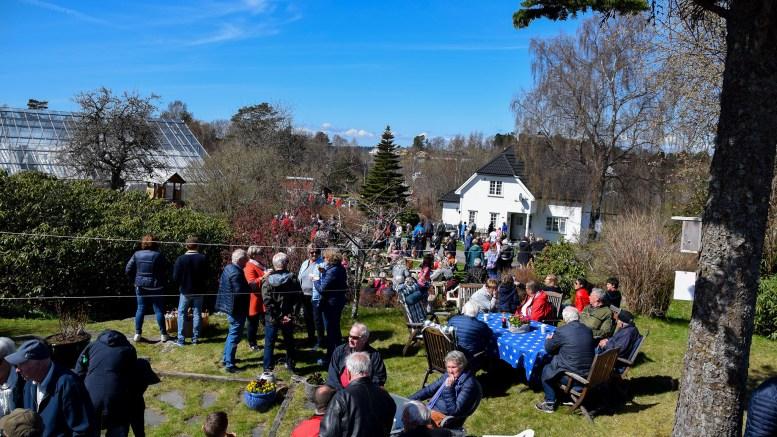 FULLT I HAGEN: Det var svært mange som hadde tatt turen til Handelsgartneriets åpne dag søndag. Foto: Esben Holm Eskelund