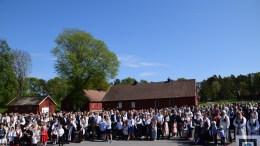 FEIRET PÅ HOVE: FAU på Roligheden skole og Tromøy menighet arrangerte nasjonaldagsfeiring på Hove. Foto: Esben Holm Eskelund